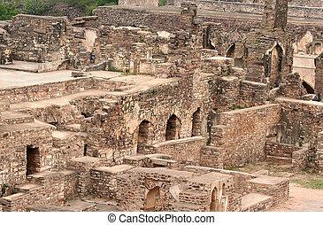 Golkonda Fort - Historic Golkonda fort in Hyderabad city...