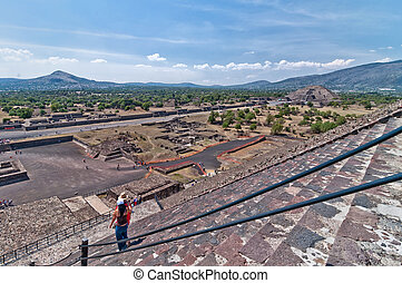 Teotihuacan, Aztec ruins, Mexico - Teotihuacan, Mexico -...
