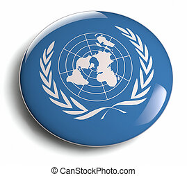 United Nations UN logo design element.