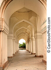 Walk Way In The Tombs - Historic Quli Qutb shahi tombs in...