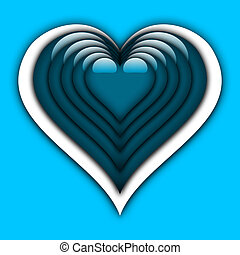 Colorful Heart - Illustration on the subject of love,...