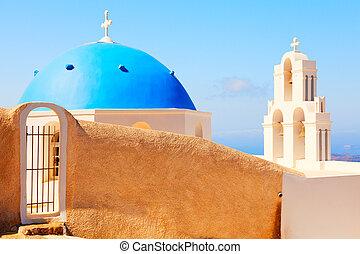 Fira, Santorini - Famous church in Fira, Santorini