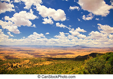 Great Rift Valley, Kenya - Great Rift Valley with cloudy...