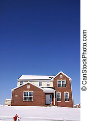 Single Family Home - Beautiful single family home in winter...