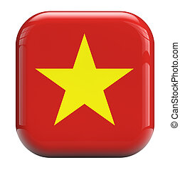 Vietnam flag isolated symbol icon.