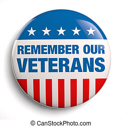 Veterans Day remember badge icon.