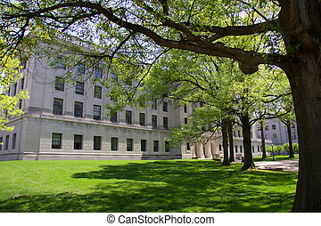 Federal Building In Spring Time - Historic big federal...