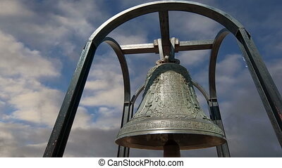 Orthodox bells New Jerusalem in town Istra, surroundings of...