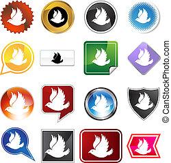 dove icon variety set