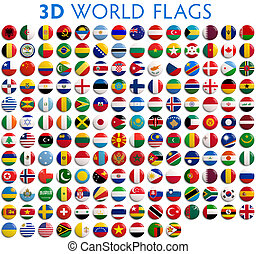 Country Flags of the World - Country flags of the world - 3D...