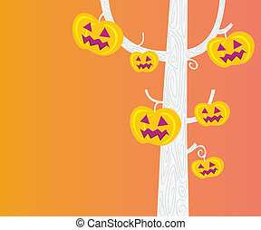 Halloween pumpkin - head tree