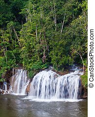 Sai Yok Yai Waterfall - Sai Yok Yai waterfall flow into...