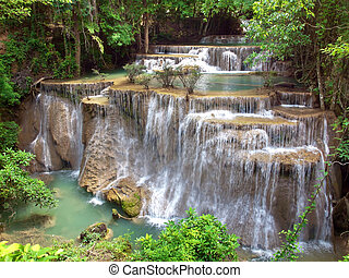 Huay Mae Kamin Waterfall - Fourth floor of Huay Mae Kamin...