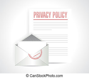 privacy policy documents illustration design over a white...
