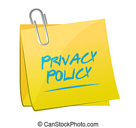 privacy policy memo post illustration design over a white...