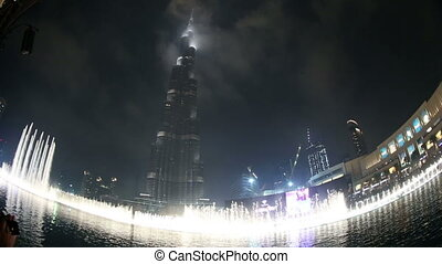 fountain water show - exotic fountain water show at Burj...