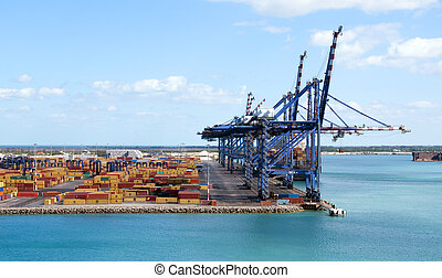 Container Port - Port of Freeport Bahamas Container shipyard...