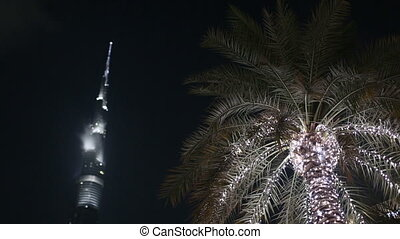The Dubai Mall - Dubai Mall entrance, Palm and Burj Khalifa...