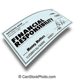 Financial Responsibility Check Bill Payment Money Owed...