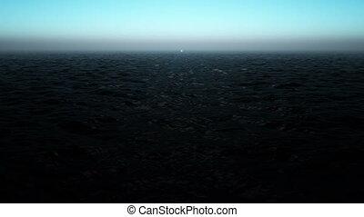 Magical ocean waves, loop HD