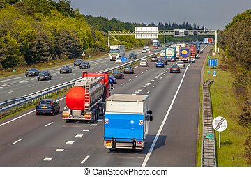A12 Motorway Traffic seen from Above