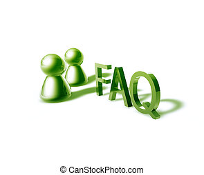 faq word graphic - faq online word graphic, with stylized...