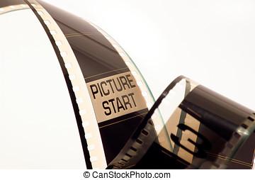 Film negative - Picture start in a film negative