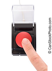 Close-up Of Finger Pressing Button