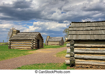 Cabins at Valley Forge - Reproductions of cabins used by...
