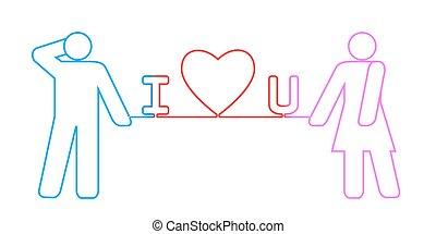 """""""I love you"""" string"""