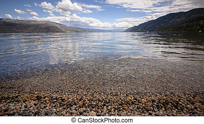 The View from Antler's Beach of Peachland British Columbia,...