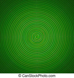 Green twirl circular wave Background