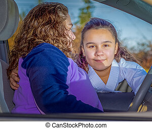 Mom Takes Daughter To Practice - Loving Mom Takes Daughter...