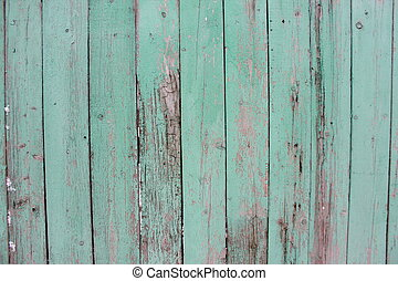 Old panted wood fence texture - Old panted blue wood fence...