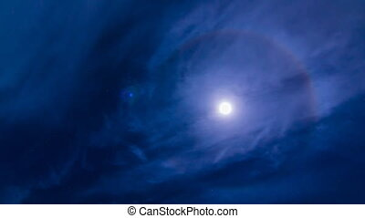 time lapse full moon halo - time lapse beautiful the full...