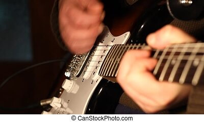 Melody Playing on Electric Guitar - Musician playing...