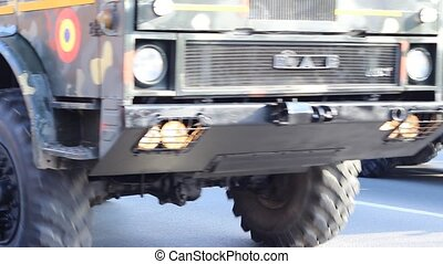 Military Truck and Cannon - Heavy powerfull military truck...