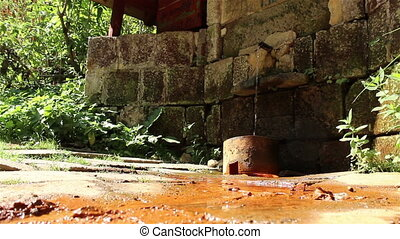 Mineral Water Spring - A natural mineral water spring flows...