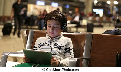 little child in airport