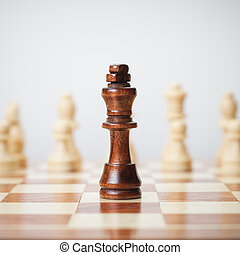 chess concept on grey background