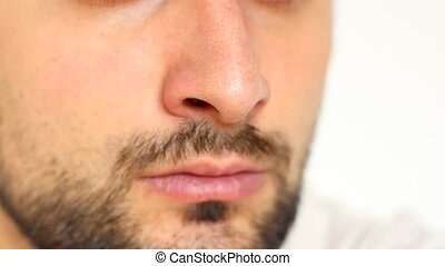 Nose Inhalation - Deep breathing through nose. Air enters,...