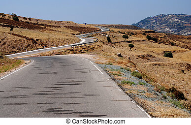 Country road - Empty country road of Cyprus...
