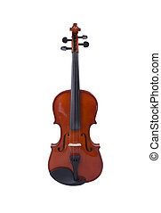 Musical Instrument Viola on the white background.