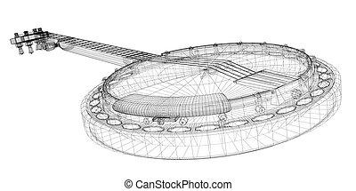 Banjo - 5 string - Banjo model - 5 string, body structure,...