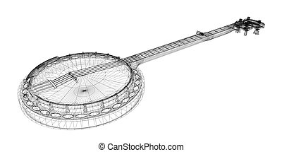 Banjo - 5 string - Banjo model - 5 string, body structure,...