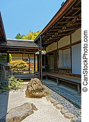 Stone garden at Historical Monuments of Ancient Kyoto UNESCO...