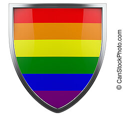 Gay pride isolated design element