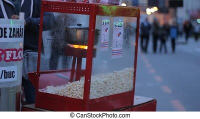Outdoors Popcorn Machine - Public place outdoors popcorn...