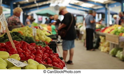 People Buying Vegetables - People are buying fresh...