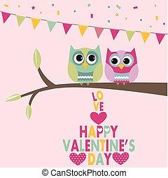 Valentines day owls
